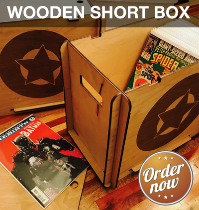 Wooden Comic Book Short Boxes Comic Book Supplies