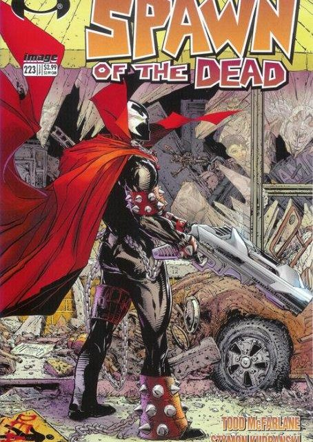 Spawn (1992) No. 223 Walking Dead Homage Cover